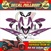 STRIPING MOTOR DECAL MOTOR YAMAHA XEON RC VIA VIA SHARK UNGU