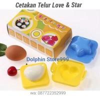 Cetakan Telur Rebus Love & Star / Egg Molding / Cetakan Nasi Bento