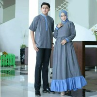 Baju Busana Muslim Gamis Couple Pria Wanita Remus