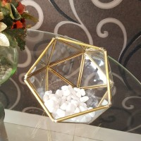 terarium terrarium kotak kaca cincin wedding ring box gold