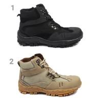 Isko Store Sepatu Safety Pria Crocodile Boots Ujung Besi Ziper Proyek