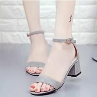 sepatu hak tali heels polos