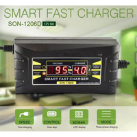 Charger Aki Mobil Motor Digital Smart Battery Charger 12V6A