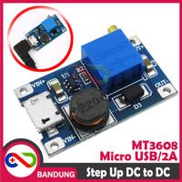 [CNC] MT3608 ADJUSTABLE STEP UP BOOST DC MICRO USB 2A 2V-24V TO 5V-28V