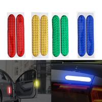 2 Pcs Waterproof Car Safety Door Reflector / Stiker Mobil Reflektor
