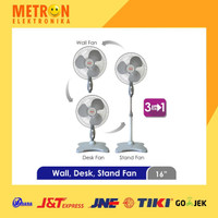 COSMOS WADESTA 16-S055 - KIPAS ANGIN 3in1 -16 inch -Wall, Desk, Stand