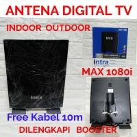 ANTENA DIGITAL TV OUTDOOR INDOOR INTRA INT-118 FREE KABEL ANTENA 10M