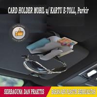 Card Holder Mobil Tempat Kartu E-Toll/Kartu Parkir/Kacamata Serbaguna
