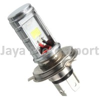 JMS Lampu LED H4 Motorcycle Headlight COB LED Hi/Lo Beam 1200LM 6000K