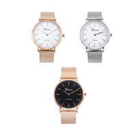 Jam Tangan Geneva Wanita Rantai Analog Fashion Casual Watch 11