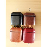 Airpods Leather Case Kulit Casing Soft Hard Original Cover iPhone iPad