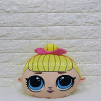 BONEKA BANTAL KEPALA LOL SURPRISE PRETTY GIRL CUSHION