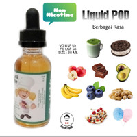 Liquid Vape US byHahaue's Non Nicotine For POD & Close System 30ml