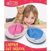 Cat Litter Box / Kotak Bak Pasir Kucing Cat Pan Set Deluxe Sekop