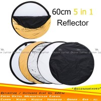 Diffuser Reflector Bulat 60cm Pemantul Lighting Equipment Studio Canon