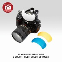 Flash Diffuser Pop Up 3 Color/ Multi Color Diffuser
