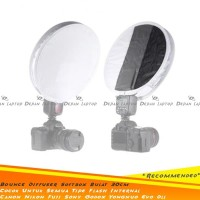 Universal Diffuser Round Flash Mini SoftBoX Bulat 30cm Canon Nikon