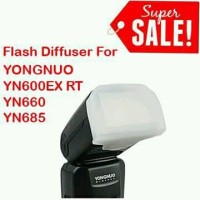 Flash Diffuser for Yongnuo Flash Speedlite YN600EX-RT YN-660 YN-685