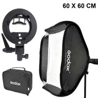 Godox S-Type Payung Softbox Flash Diffuser Camera DSLR OEM - 60X60cm
