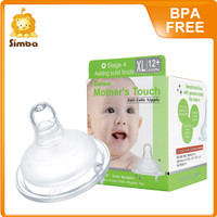 Mothers Touch Anti-Colic Silicone Nipple -Wide Neck XL