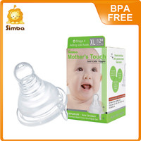 Mother Touch Anti-Colic Silicone Nipple - Standard XL