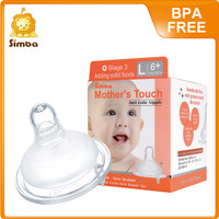 Mother Touch Anti-Colic Silicone Nipple - Wide Neck L