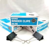"Binder Clips No.200 Kenko Width/lebar:1,625"" (41mm)"