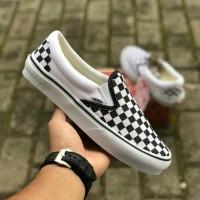 Sepatu Vans Slip On Checkboard - 37
