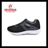 Ardiles Men Enoki Sepatu Running - Hitam Putih - Hitam Putih, 38 Hemat
