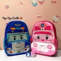 Tas Ransel Backpack Anak Robocar Poli Amber Heli Roy Limited