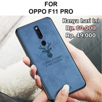Case Oppo F11 Pro softcase casing back cover levis kanvas leather DEER