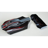 Buggy Printed Body Shell + Rear Wing XVR 1/18