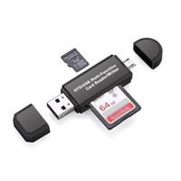 Adapter Multifungsi Card Reader SD/MicroSD dgn OTG MicroUSB USB 2.0