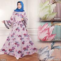 CB1917 - GAMIS BALOTELI PETALA Size L - Dress simple motif bunga