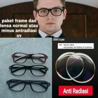 kacamata frame kingsman paket lensa normal dan minus antiradiasi uv