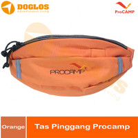 ProCamp Tas Pinggang Waist Bag slempang pocket travel pouch Orange
