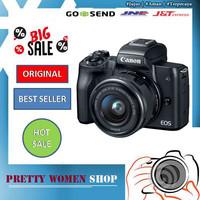 Canon EOS M50 Kit 15-45mm Garansi 1 Tahun