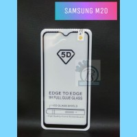 TEMPERED GLASS ANTI GORES SAMSUNG M20 FULL COVER