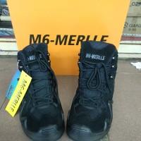 sepatu tactical boots M6-merlle 6inchi model lowa - Hitam, 42