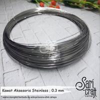 Kawat Aksesoris Stainless Soft 0.3mm