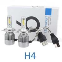 Bohlam LED C6 H4 COB 2PCS Lampu mobil - Isi 2