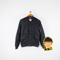Jaket Outerwear Lacoste MA-1 Quilted Bomber Jacket Black Original