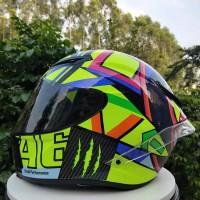 AGV K3 SV VELOCE S TOP SOLELUNA Imitasi DGL Full Face Helm Sepeda
