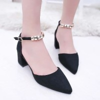 sepatu hak variasi gold heels polos