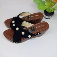 sepatu wanita wedges slop mutiara SDW294