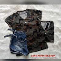 PILIHAN TERBAIK LADIES KAOS ARMY WANITA CEWEK / KAOS LORENG SPORT