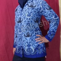 pilihan terbaik kemeja panjang blus pns batik korpri wanita katun