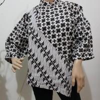 pilihan terbaik kemeja batik wanita / blouse batik pesisir lengan 7/8