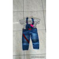 hansop baju monyet anak perempuan bahan jeans AN 499