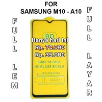 Tempered Glass Samsung M10 - A10 anti gores screen guard full cover 5D